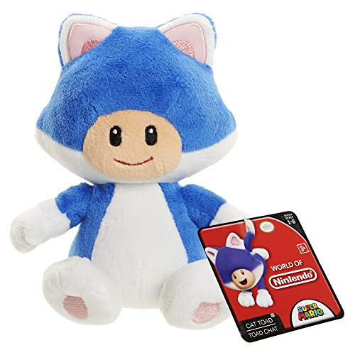 World of Nintendo 88795 Cat Toad Mario Bros U Plush - 1