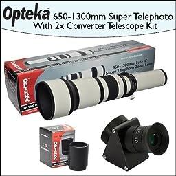 Opteka 650-2600mm HD Telephoto Zoom Lens with Telescope Converter Kit