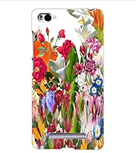 ColourCraft Beautiful Flower Bunch Design Back Case Cover for XIAOMI MI 4I