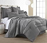 Collette 8-piece Embellished Comforter set Platinum King