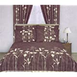 Single Duvet Cover Set With 1 Pillowcase Brownby Matching Bedroom Sets