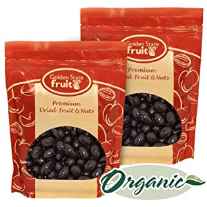Organic Dark Chocolate Covered Almonds 2 Lbs (in 2 - 1 Lb Reclosable Bags)