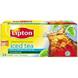 Lipton Iced Tea, Decaffeinated, Tea Bags, 24Count Boxes, (Pack of 12)