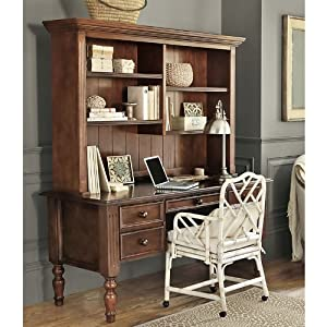 Amazon Com Home Office Ensemble 3 Drawer Desk With Hutch