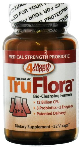 Master Supplements Truflora, 15 Billion CFU, 3 Probiotics, 2 Enzymes,  32 - V-Caps