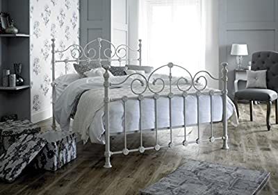 Victorian Style Double 4ft 6inch Cream Metal Bed Frame
