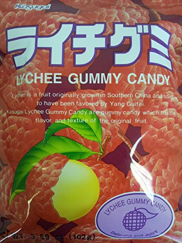 Japanese Fruit Gummy Candy from Kasugai - Litchi - 102g