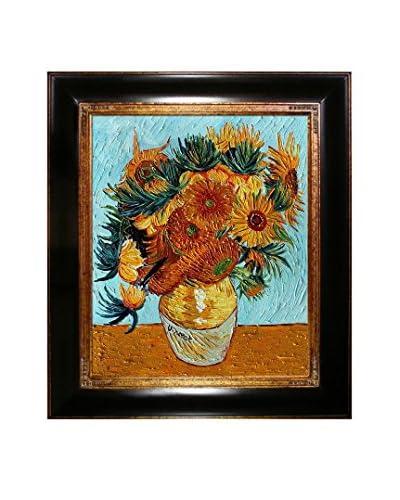 Vincent van Gogh Sunflower Collage Framed Hand-Painted Artist's Interpretation
