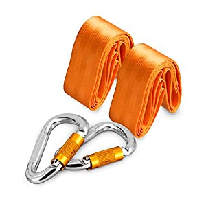 Teroys® 2pcs Swing Hanging Strap Kit+Heavy Duty Hook, Tress Swings & Hammocks Accessories, Safety Swing Hanging Rope, 59