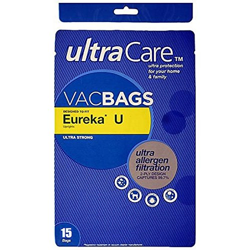 15 Eureka Type U, Style U Upright Vacuum Cleaner Bags, Made in the USA (Usa Made Vacuum Cleaners compare prices)