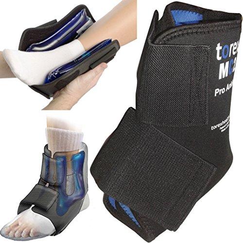 Torex TUTORE CAVIGLIA 2 GEL Compressione + Terapia FREDDO Ankle Boot REGOLABILE Distorsione, Lesione, Gonfiore, Edema, Post Chirurgia Malleolo - Riutilizzabile - MC2 Ankle Professional