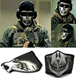 "Samgu-Masque Protection Demi Cagoule Neoprene ""Ghost Tete de mort - Skull"" - Taille unique réglable - Airsoft - Paintball - Outdoor CS"