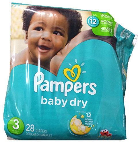 Pampers Baby Dry Diapers - Size 3 - 28 ct