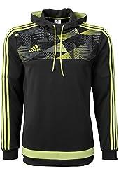 adidas Men's Tiro 15+ Graphic Hoodie Dark Grey/Light Flash Yellow/Semi Solar Yellow Sweatshirt MD