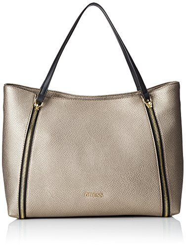 Guess Angie Tote Borsa a Mano, Donna, Blu (Pewter)