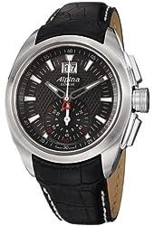 Alpina Nightlife Club Chronograph Black Dial Leather Strap Mens Watch AL353B4RC6