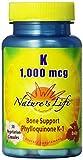 Nature's Life K , Bone Support, Phylloquinone, 1000 Mcg, 50 Vegetarian Capsules