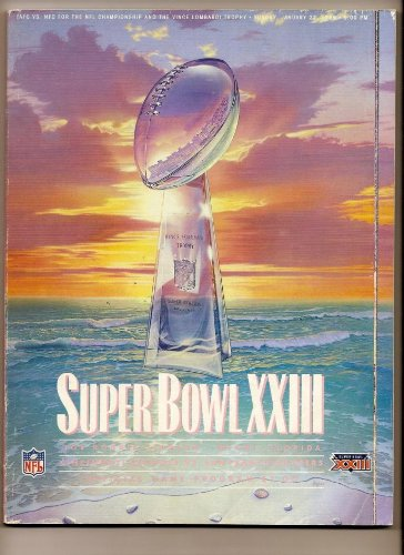 Super Bowl 23 XXIII Official Game Program 49ers Bengals (Super Bowl 23 compare prices)