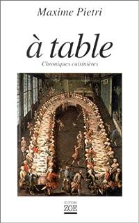 À table : chroniques cuisinières
