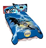 Warner Bros Microraschel Blanket, 62-Inch by 90-Inch, Batman Lightening Sweep