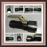 supermall 3Mode Long Beam CREE Rechargeable LED Waterproof Flashlight Flash Light Torch
