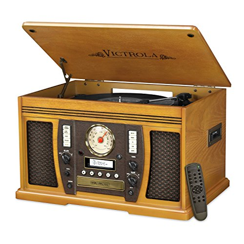Victrola-VTA-750B-Nostalgic-Aviator-7-in-1-Turntable-Wooden-Entertainment-Center-with-Bluetooth-Oak