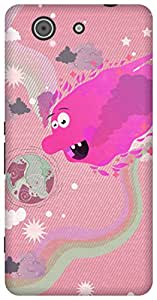 The Racoon Lean printed designer hard back mobile phone case cover for Sony Xperia Z3 Compact. (Sun Monste)