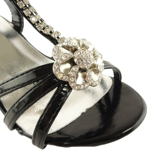 Girls' Dressy Flower T-Strap Rhinestone High Heel Sandals a4tech pk 910h