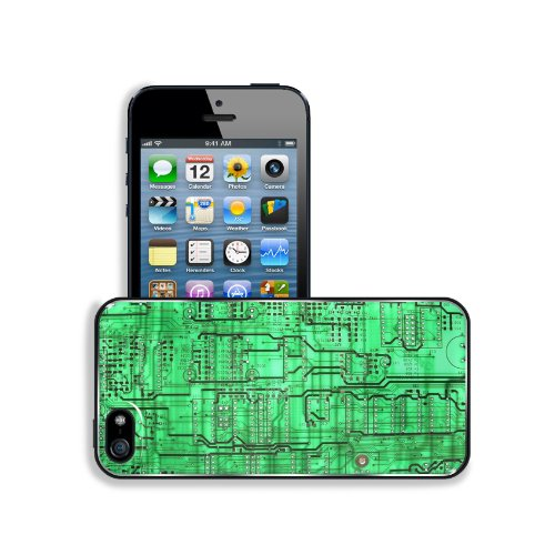 Electronics Green Circuit Boards Pattern Apple Iphone 5 / 5S Snap Cover Premium Aluminium Design Back Plate Case Customized Made To Order Support Ready 5 Inch (126Mm) X 2 3/8 Inch (61Mm) X 3/8 Inch (10Mm) Msd Iphone_5 5S Professional Metal Case Touch Acce