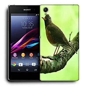Snoogg Unique Sparrow Printed Protective Phone Back Case Cover For Sony Xperia Z3