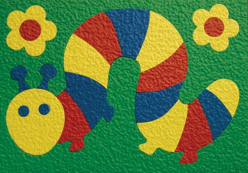 Lauri Crepe Rubber Puzzle - Caterpillar - 1