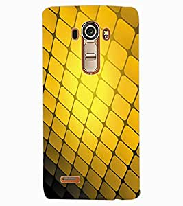 ColourCraft Squares Pattern Design Back Case Cover for LG G4