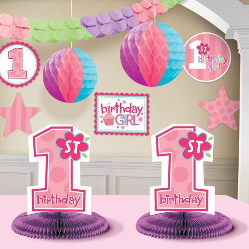 Sale!! 1st Birthday Girl Decorating Kit Party Supplies