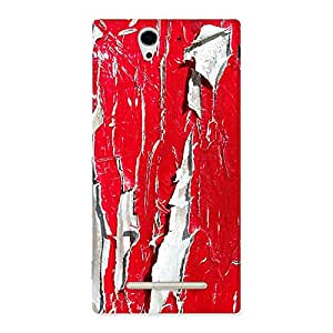 Ajay Enterprise Elite Red Ripped Paint Print Back Case Cover for Sony Xperia C3