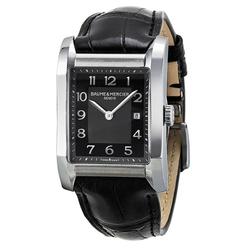 Baume and Mercier Black Dial Leather Strap Ladies Watch MOA10019