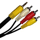 Roku Composite (red/white/yellow) cable for Roku LT, and Roku 2 (XS HD, XD) Models