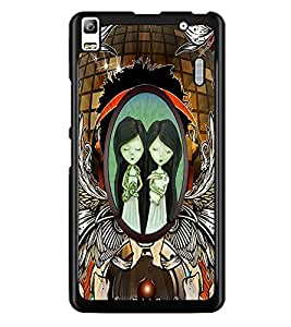 PrintDhaba Twins D-2864 Back Case Cover for LENOVO A7000 TURBO (Multi-Coloured)