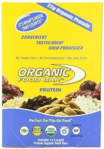 Organic Food Bar, Protein, 75 Gram Bars,  (Pack of 12)