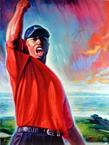 Tiger Woods Signed 30x40 Canvas - LE 1 25 - Upper Deck Certified - Autographed Golf... by Sports Memorabilia