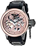 Invicta 17274 Men's Russian Diver Skeleton Rose Gold Dial Steel & Rubber Strap Watch