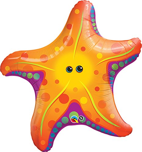 PIONEER BALLOON COMPANY 35373 Super Sea Star Shape Balloon Pack, 30""