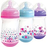 The First Years Gumdrop 8oz Bottle Wide 3-pack Y4945 (Assorted)