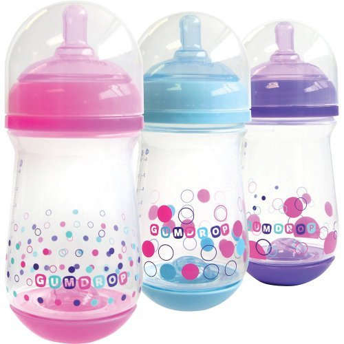 The First Years Gumdrop Wide Neck 3 Piece Bottle Assortment, 8 Ounce - 1