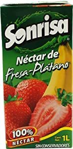 Sonrisa Nectar, Strawberry Banana, 33.81-Ounce (Pack of 12)