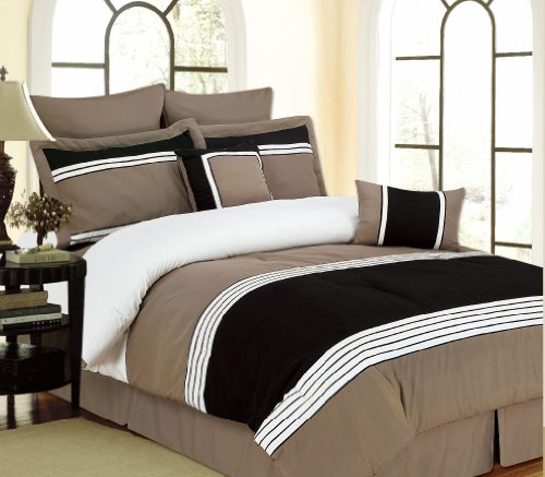 Rt Designers Collection Willow 8 Piece Comforter Set King