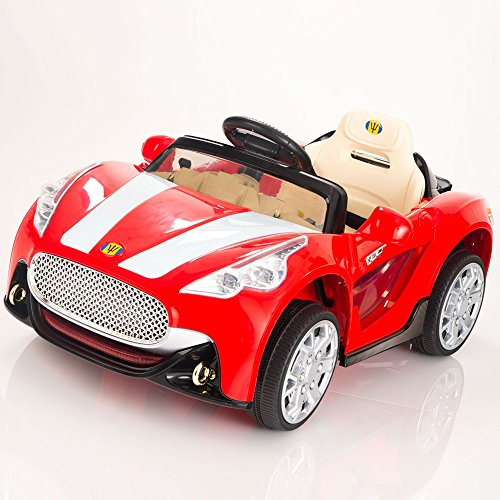 maserati style 12v kids ride on car electric power wheels remote control red little kid cars