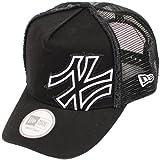 ニューエラ ディーフレイム トラッカー メッシュキャップ バタリオン ヤンキース ブラック/ホワイト 黒 NEW ERA ニューエラ NEWERA D-FRAME TRUCKER MESH CAP BATALION YANKEES(MLB) BLACK/WHITE 11120285 [メジャーリーグ ヤンキース ニューエラ キャップ]