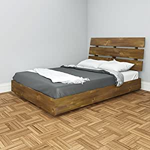 Amazon Nocce Full Platform Bed with Headboard by