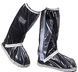 Zeroire 雨用靴カバー 防水 (Lサイズ30x42cm, 男女兼用-clear)