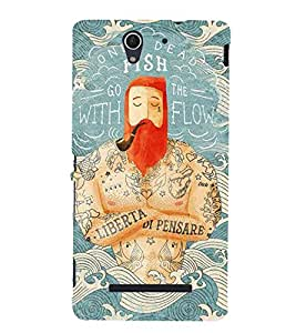 Quotes design Back Case Cover for Sony Xperia C3 Dual D2502::Sony Xperia C3 D2533